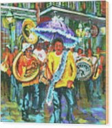 Treme Brass Band Wood Print
