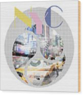 Trendy Design New York City Geometric Mix No 1 Wood Print