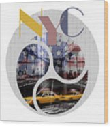 Trendy Design New York City Geometric Mix No 2 Wood Print
