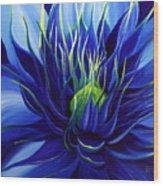 Tres Azul Wood Print