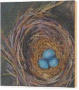 Tres Bleu Wood Print