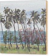 Tres Palmas Wood Print by Sarah Lynch
