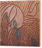 Tresses 3 - Tile Wood Print