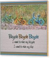 Tri Bike Bicycle Races Wood Print