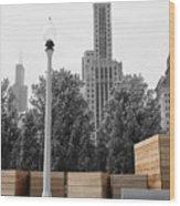 Tri Towers Wood Print