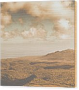 Trial Harbour Landscape Panorama Wood Print
