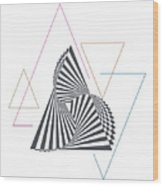 Triangle Op Art Wood Print