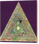 Triangle Triptych 3 Wood Print