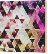 Triangles Autumn Wood Print