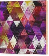 Triangles Impressionism Wood Print