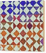 Triangles Impressionism Painting Wood Print
