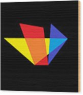 Triangles Of Light Wood Print