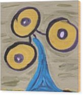 Triangular Blue Wood Print