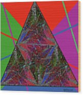 Triangular Thoughts Wood Print