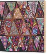 Triangularia Wood Print