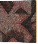 Triangulated Circles Wood Print