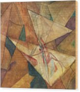 Triangulation Wood Print