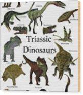 Triassic Dinosaurs Wood Print
