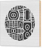 Tribal Ball- Art By Linda Woods Wood Print
