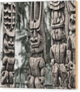 Tribal Council Wood Print