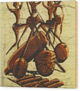 Tribal Dance Wood Print