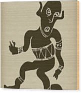 Tribal Dancer Wood Print