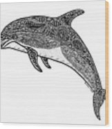 Tribal Dolphin Wood Print