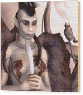 Tribal Elf Wood Print