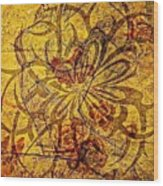 Tribal Flower Wood Print