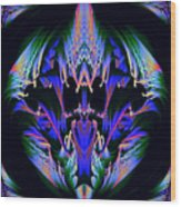 Tribal Fractal Wood Print