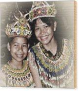 Tribal Girls Wood Print