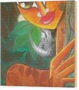 Tribal Lady Wood Print