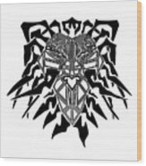 Tribal Lion Alpha Wood Print