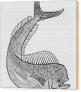 Tribal Mahi  Wood Print by Carol Lynne