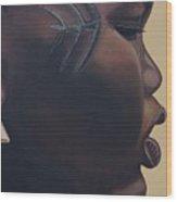 Tribal Mark Wood Print by Kaaria Mucherera