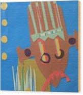 Tribal Mask Wood Print