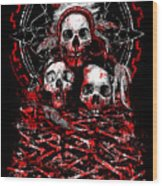 Tribal Massacre  Wood Print