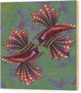 Tribal Sea Creature 1 Wood Print