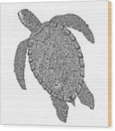 Tribal Turtle II Wood Print