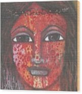 Tribal Woman Wood Print