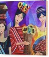 Tribal Women Wood Print