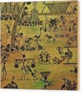 Tribals I Wood Print