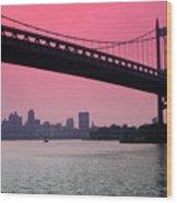 Triborough Bridge From Astoria Park Wood Print