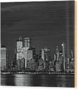 Tribute In Light  # 7 - B  And  W Wood Print