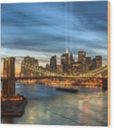 Tribute In Light I Wood Print by Clarence Holmes