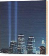 Tribute Of Light Represents The Fallen Wood Print