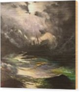 Tribute To Aivazovsky Wood Print