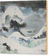 Tribute To Hokusai Wood Print