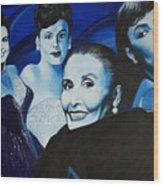 Tribute To Lena Horne Wood Print