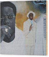 Tribute To Mr. Bernie Mac Wood Print